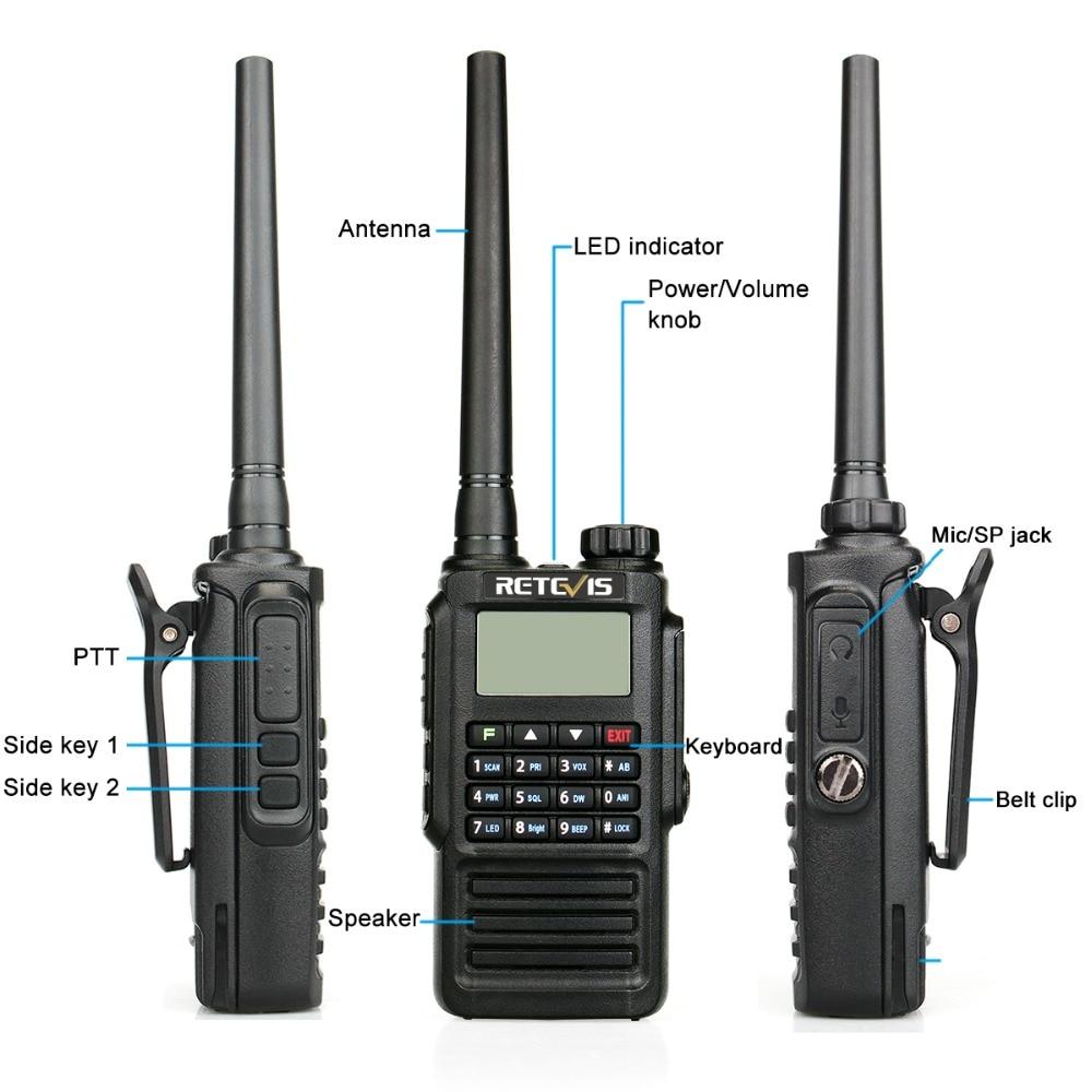 Retevis RT87 Professional IP67 Vattentät Walkie Talkie 5W 128CH VHF - Walkie talkie - Foto 4