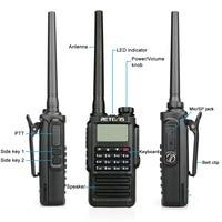 מכשיר הקשר Retevis RT87 מקצועי IP67 Waterproof מכשיר הקשר 5W 128CH VHF UHF Dual Band מערבל VOX FM שני הדרך רדיו ווקי טוקי (4)