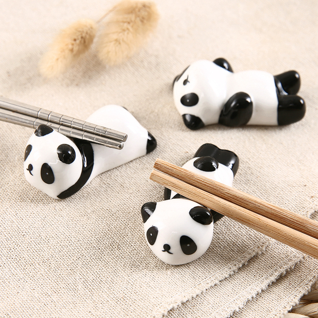1 set Zakka Cute  ceramic  Chopstick Stand Rest spoon holder Chop stick holder home decor kitchen organizer 5