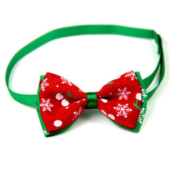 Christmas Holiday Dog Collar Bow Tie