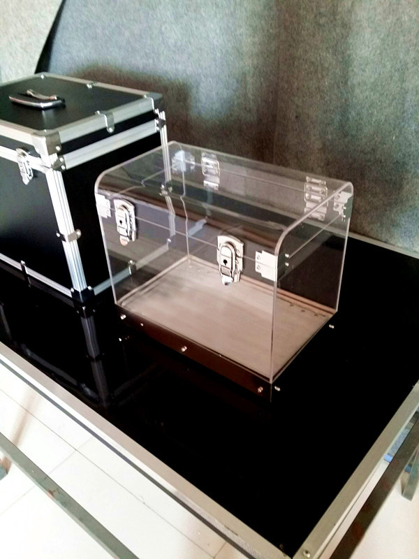Crystal Money Chest Empty Box Appearing Money Magic Tricks Stage,Professional,Illusion,Gimmick,Props,Comedy Astonishing Visible