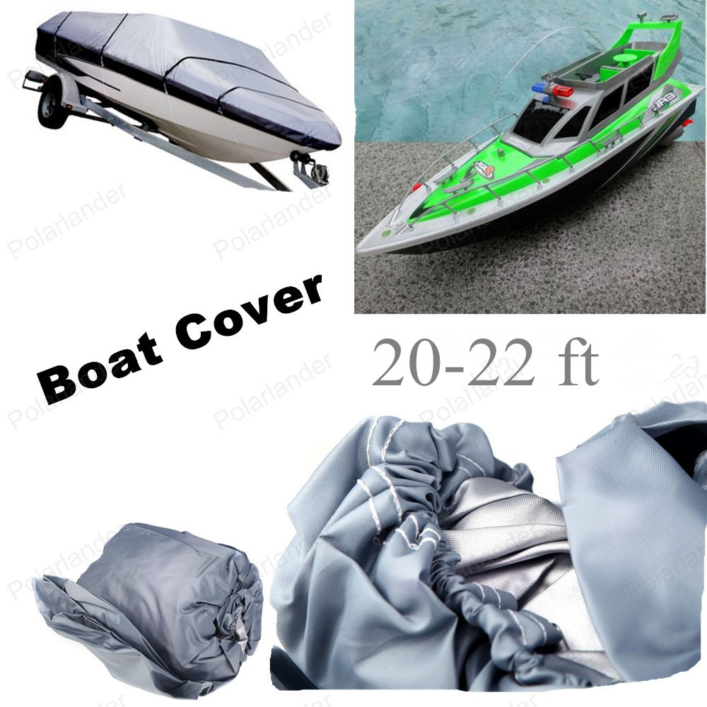 HOT SELL Fishing/Ski/Boat Cover Heavy Duty Trailerable 20-22ft beam 100inch 210D Grey Rectangle Waterproof UV protected