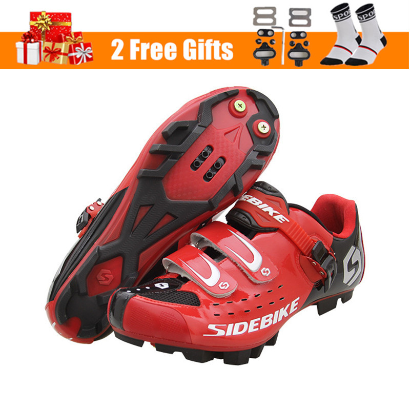 Image 2 - SIDEBIKE Pro Mens Mountain Bike Shoes MTB Cycling Shoes Self Locking Riding Bicycle Shoes with Mesh Holes and hook & loop-in Cycling Shoes from Sports & Entertainment on AliExpress