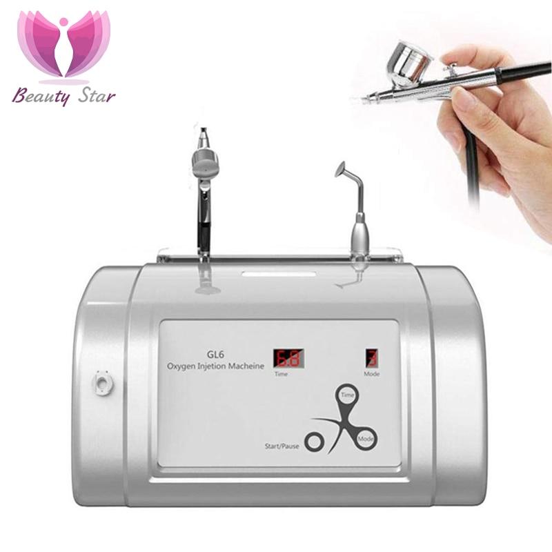 Beauty Star Oxygen Spray Water Injection Inject Hydrate Jet Beauty Machine Skin Rejuvenation Oxygen Infusion SPA Facial Care