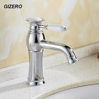 Bathroom Chrome Faucet Basin Sink Mixer Taps Contemporary Style Hot&Cold Water Faucet ZR638