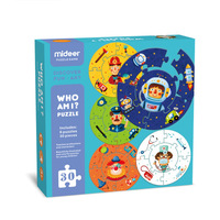Children Double sided Paper Puzzle Toys Who Am I Game Puzzle Teaches Professions Characters Learning Educational Toys