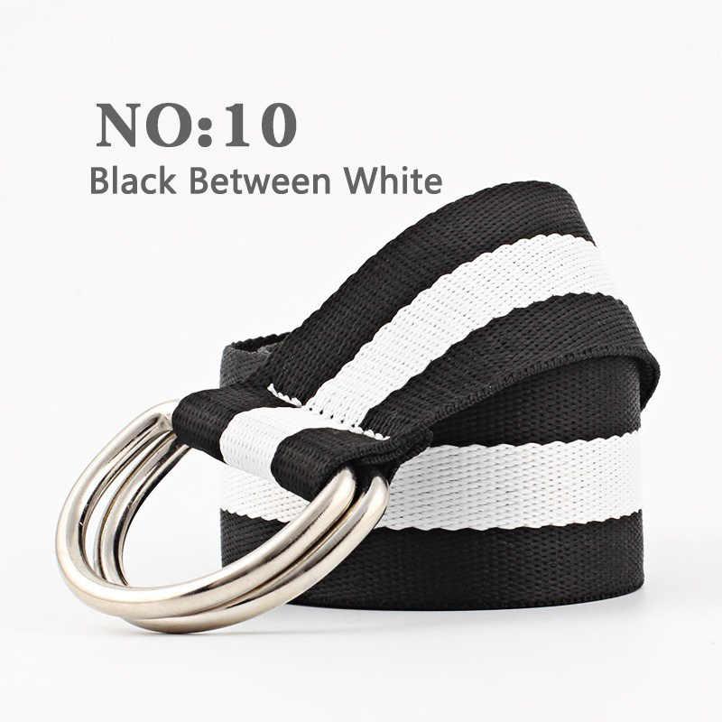 Для женщин Мода Harajuku ремень красный с холст буквы модный унисекс двойное кольцо женский длинный дизайн пояса Origina ДЛЯ джинсы