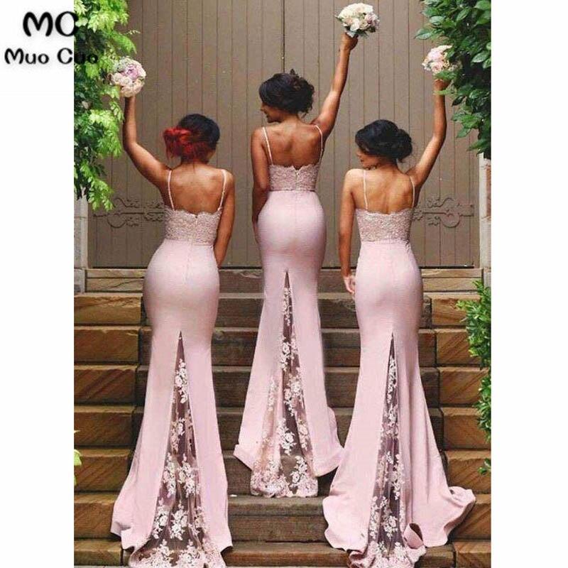 Spaghetti Strap Mermaid Bridesmaid Dresses Sexy Lace Bridesmaid Dresses3