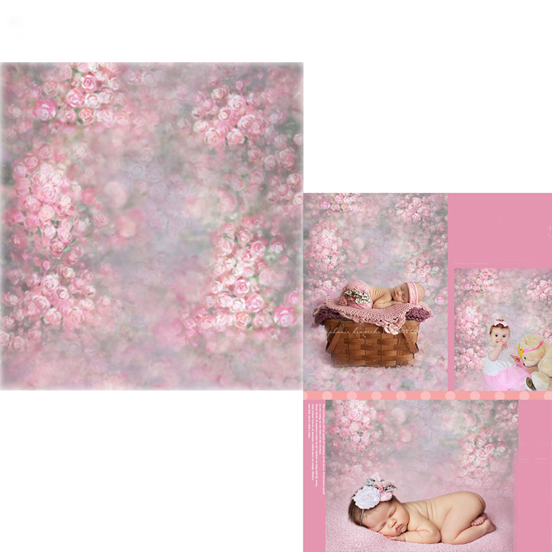MEHOFOTO Pink Floral Vinyl Photography Background For Newborn Painting New Fabric Polyester Backdrop For Baby photo studio 100 vinyl backdrop photography lovely painting of wildflowers newborn photography background cm s 110