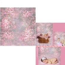 MEHOFOTO Rosa Floral Fotografia Vinil pano de Fundo Para Recém-nascidos Pintura Novo Tecido de Poliéster Pano de Fundo Para O estúdio da foto Do Bebê 100