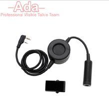 Waterproof PTT Cable Plug for Z Tactical Comtac II H50 MSA SORDIN H60 HD03 Headset for Kenwood Ham Radio Walkie Talkie