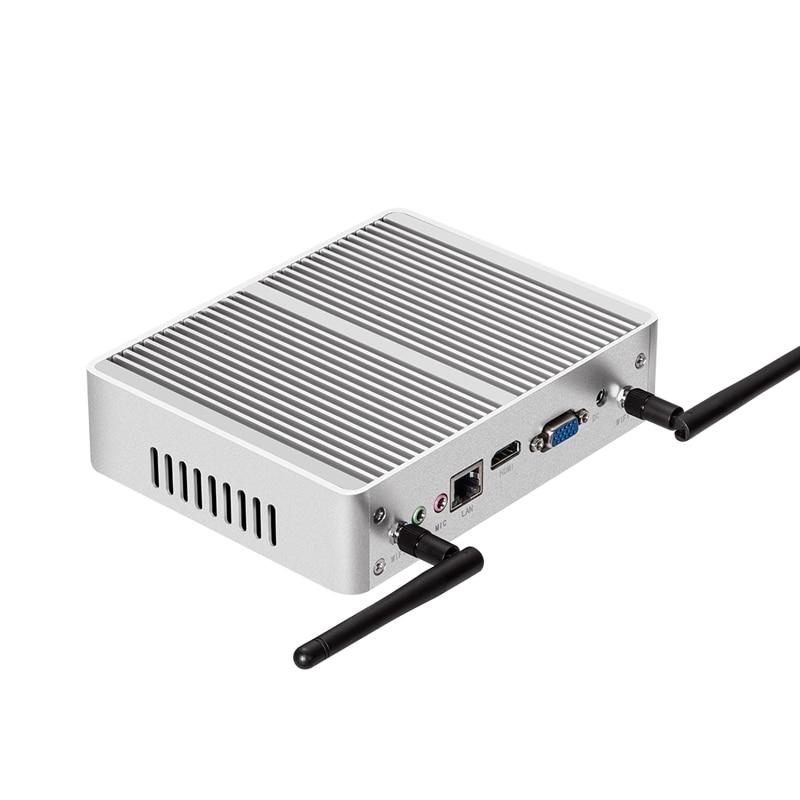 Mini PC Windows 10 Intel Core i3 5005U 4010U HD Graphics Compact HTPC Fanless Silent Mini