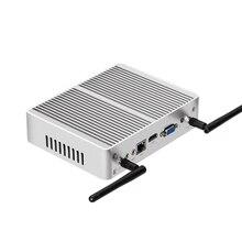 Mini PC Windows 10 Intel Core i3 5005U 4010U HD Grafik kompakt HTPC Fansız Sessiz Mini Masaüstü PC HDMI VGA Çift Ekran WiFi