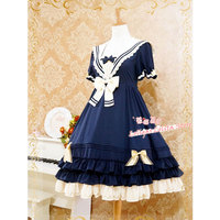3e857d216 Classic Sailor Style Short Sleeve Lolita Dress By Strawberry Witch