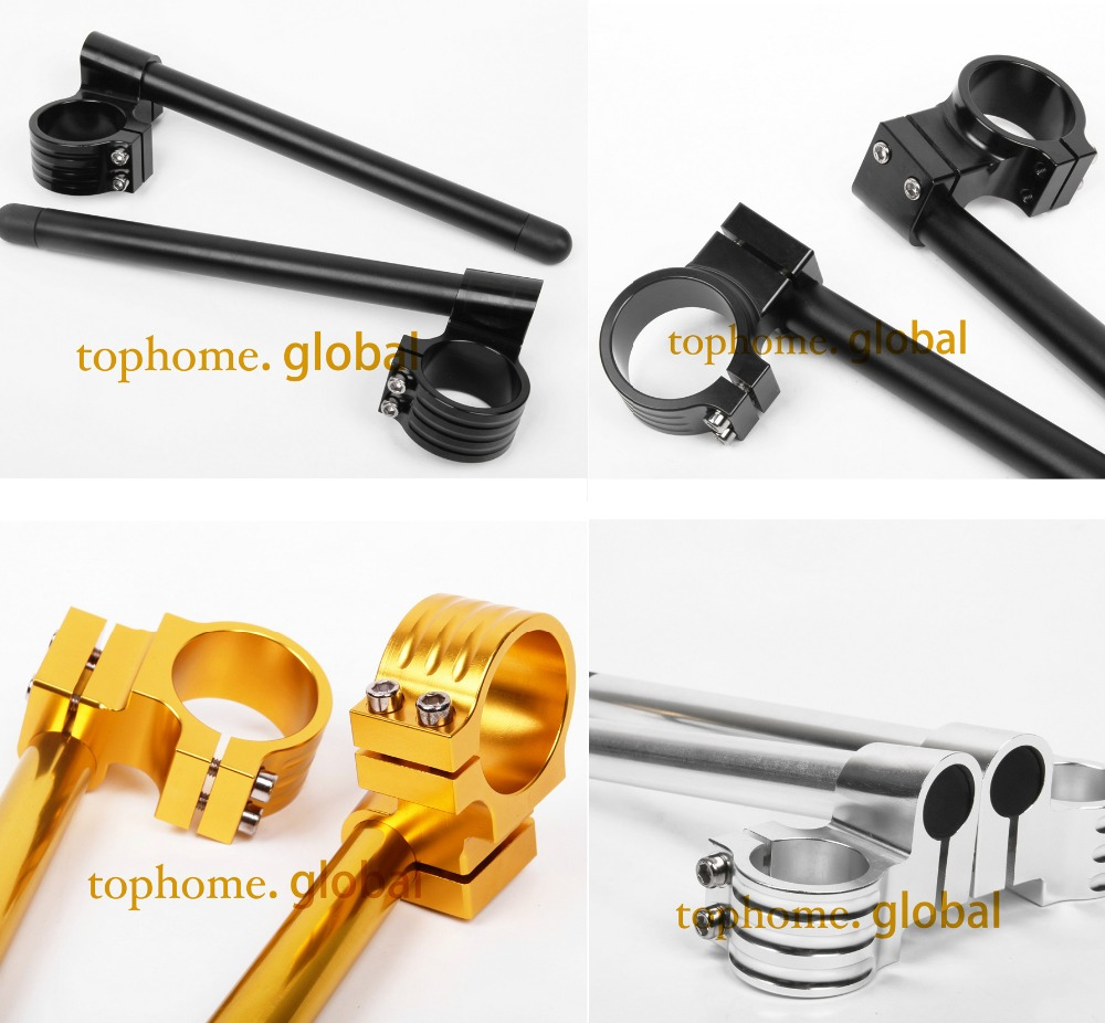 For Yamaha YZF R1 1998 2015 CNC 50mm Regular Rise ClipOns Handle Bar Fork Tube Handbar