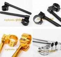 For Yamaha YZF R1 1998 2015 CNC 50mm Regular/Rise ClipOns Handle Bar Fork Tube Handbar 1999 2000 01 02 03 04 05 06 07 08 09