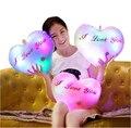 Бесплатная доставка Красочный световой держать подушку плюшевые игрушки оптом и в розницу сердце стиль Сияющий Kawaii Плюшевые