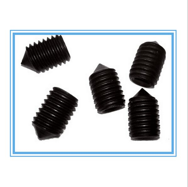 100pcs M8*8 *1 8MM*8 M8X8 Hexagon socket set screw with cone point DIN914 BLACK 12.9 fasteners hardware 100 8