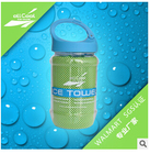 100 Pcs/lot All Cool Ice Towel 100*30cm Bottle Pack Cold Towel Summer Sports Ice Cool Towel PVA Hypothermia Cooling Towel Blue