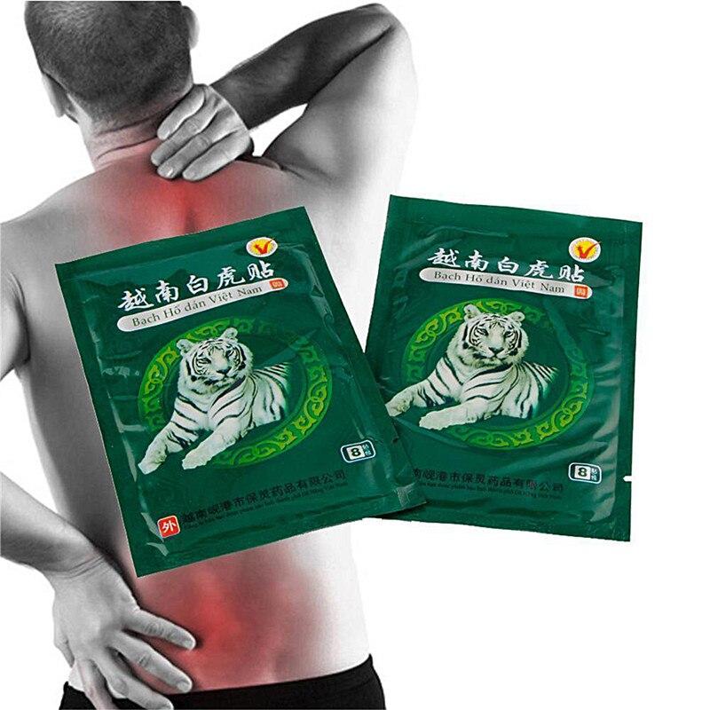 40pcs/lot Vietnam White Tiger Balm Patch Meridians patch Lumbar Back/Neck Muscular Pain Relieving Massage Health Care