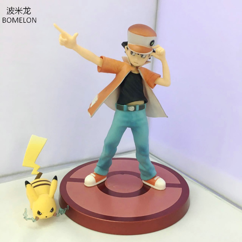 Ash Ketchum+Pikachu Aciton Figures Game Model Doll Anime Figures Kids Toys Boys Birthday Christmas Gifts цена