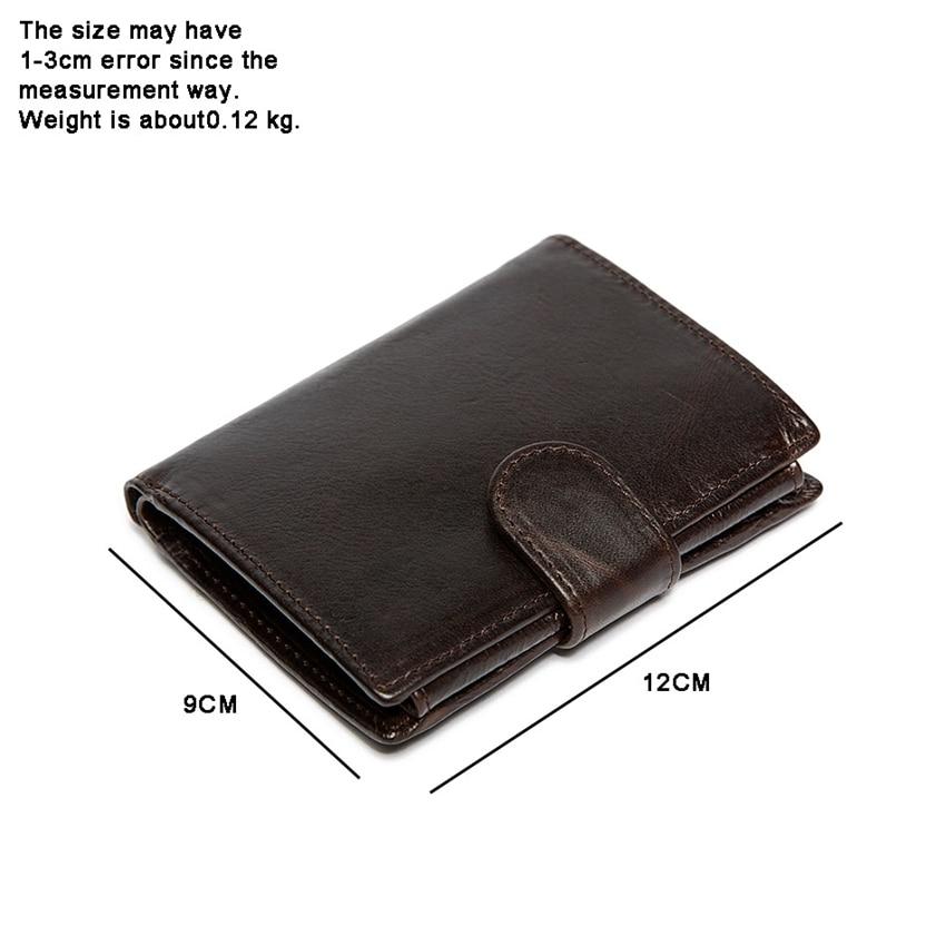 SMIRNOFF 2017 New Genuine Leather Wallet Short Hasp Multi-Card Holder Vintage Brown Oil Leather Luxury Brand Men Wallet