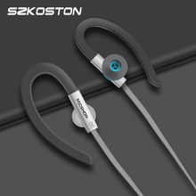 Auriculares deportivos con micrófono HIFI, auriculares internos de 3,5mm con gancho para la oreja, auriculares con cancelación de ruido para Meizu, Xiaomi, Huawei y iPhone