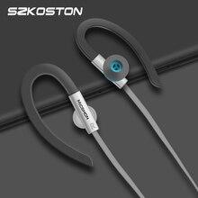 Fones de ouvido esportivos com microfone, fone de ouvido hi fi com 3.5mm, gancho de orelha, cancelamento de ruído, fones para meizu, xiaomi, huawei iphone