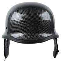 DOT Carbon Fiber WWII German Style Motorcycle Half Face Helmet Helmets For Cruiser ATV Chopper Biker Scooter M/L/XL 2