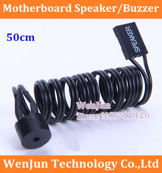Free Shipping Mainboard Small horn / motherboard Buzzer SPEAKER alarm with Cable 50cm  for PC Computer DIY