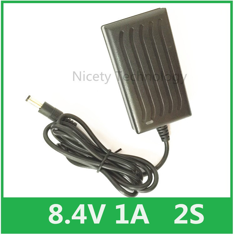 Smart Charger 8.4V 1A for 7.4V 7.2V Li-ion Li-po Battery ,Headlamp,T6/P7 LED Bicycle, HeadLight , EUS 5.5/2.1mm