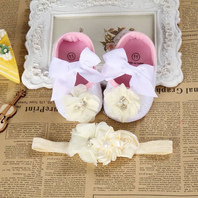 2016 new ivory Christening Baptism shabby flower toddler girl shoes,kid sapatos bebe girl,photo props newborn girl shoes