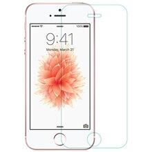 Nillkin 9 H 2.5D İnanılmaz H + PE + Anti Patlama Ekran Koruyucu Temperli Cam Apple iPhone SE Için 5 S/5 Hediye Arka Film