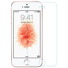 Nillkin 9 h incrível h anti explosão protetor de tela de vidro temperado para apple iphone se 5S/5 presente volta filme