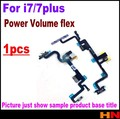 1pcs For iphone 7 7p plus orig Top qualtiy Power ON/Off Volume Mute Control Flex Cable with Volume cable Repair Parts
