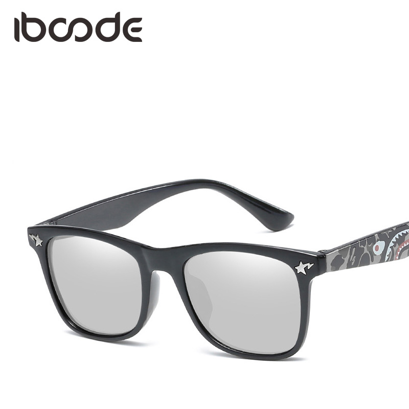 iboode Reflective Lens Sunglasses for Children Monster Doodles Frame Funny Cartoon Sun Glasses Girls Boys Anti UV Eyeglasses