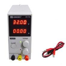 Fuente de alimentación CC de 30V y 10A, Mini fuente de alimentación de laboratorio con pantalla de 4 dígitos ajustable, regulador de voltaje K3010D para reparación de teléfonos 2019