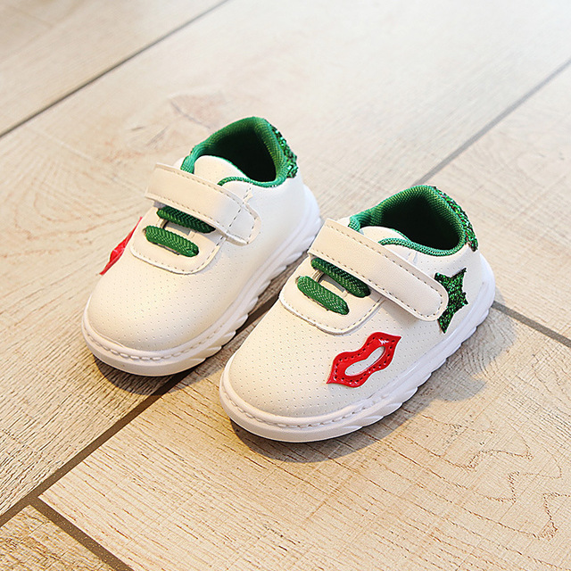 New 2018 All season high quality Hook&Loop baby casual shoes rubber unisex cool lip baby sneakers cute girls boys shoes