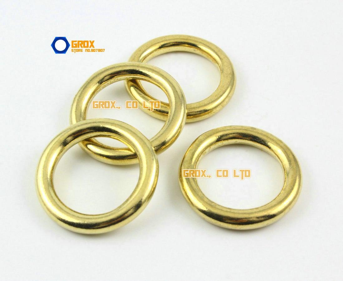 10 Pieces 19mm Solid Brass O Ring For Purse Bag Handbag Strap