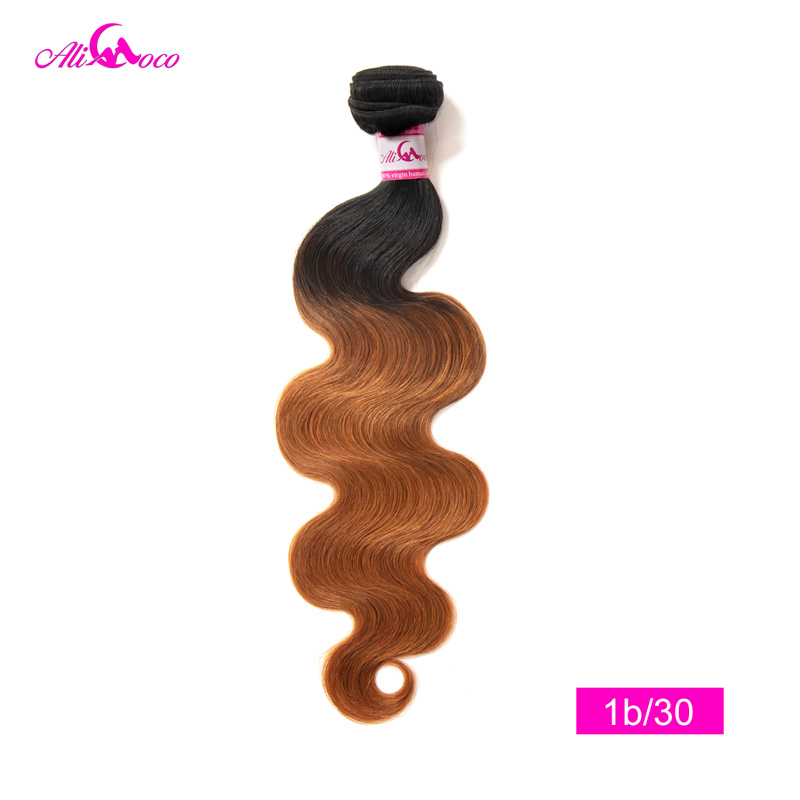 Ali Coco Peruvian Body Wave 1/3/4 Bundles 100% Human Hair Wave Bundles Extensions 8-30 inch Non Remy Omber Hair Bundles
