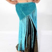 Wholesale Belly Dance Belt Costumes Sequin Bellydance Costume Pants Skirt Long Tassel Bellydance Women Dancing Duftgold