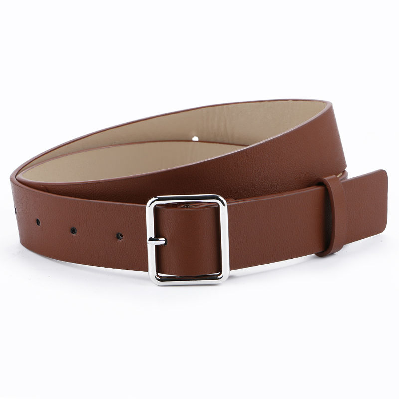 Más nuevo diseño mujer cinturón de plata pin cuadrado hebilla - Accesorios para la ropa - foto 6