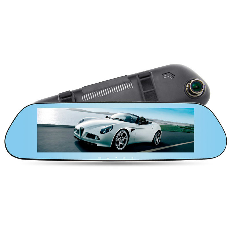 Dash Camera Car DVR Double Lens Intelligent Reversing Image Train Recorder Record Rearview Mirror Recorder 170 Degrees