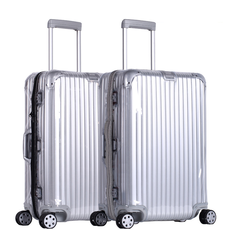Pvc Luggage Covers For Rimowa Transparent Suitcase Cover With Zipper Clear Luggage Protector Cover Organizer Travel Accessories