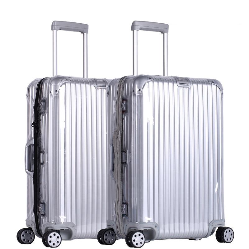 Housses de bagages en PVC pour Rimowa couvercle de valise Transparent avec fermeture éclair Transparent protecteur de bagages couvercle organisateur accessoires de voyage