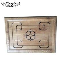 Чайный лоток с рисунком из сливы Изображение из бамбука, маленького и легкого веса, легкое для восприятия путешествием