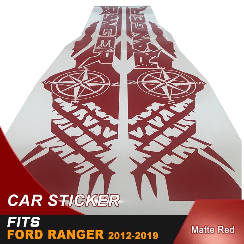 Pneu impression boussole aventure hors route vinyle graphiques autocollants de voiture pour Ford Ranger et wildtrack de Lit boîte - 3