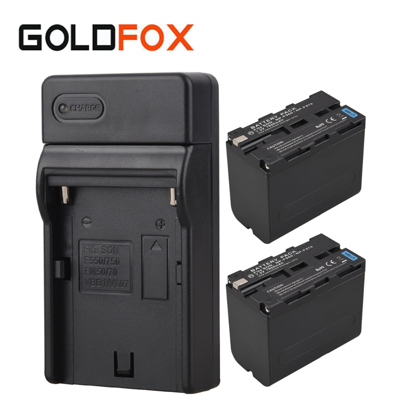 for Sony 2x 7800mAh Video Camera Digital Battery+Charger NP-F960 NP-F970 Replacement Backup Batteries Rechargeable Battery Pack durapro 4pcs np f970 np f960 npf960 npf970 battery lcd fast dual charger for sony hvr hd1000 v1j ccd trv26e dcr tr8000 plm a55