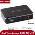 Original genuine ezcap 280 h jogo hd placa de captura de vídeo 1080 p hdmi câmera de vídeo recorder box para xbox ps3 ps4 tv stb, pode decodificar