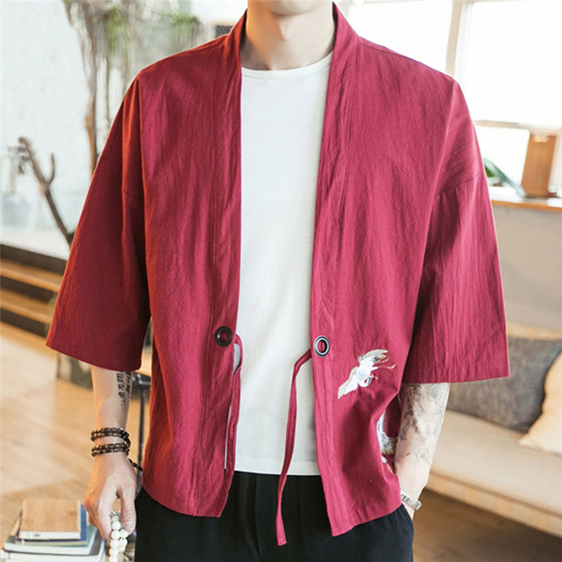 c203c3594 Embroidery Men Japanese Yukata Coat Jacket Kimono Outwear Cotton Vintage  Retro Loose Top Fashion Plus Size M 5XL 904 832-in Jackets from Men's  Clothing on ...